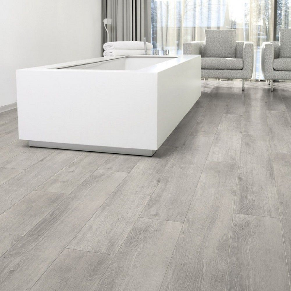 Aquastep Waterproof Laminate Flooring Oak Grey VGroove