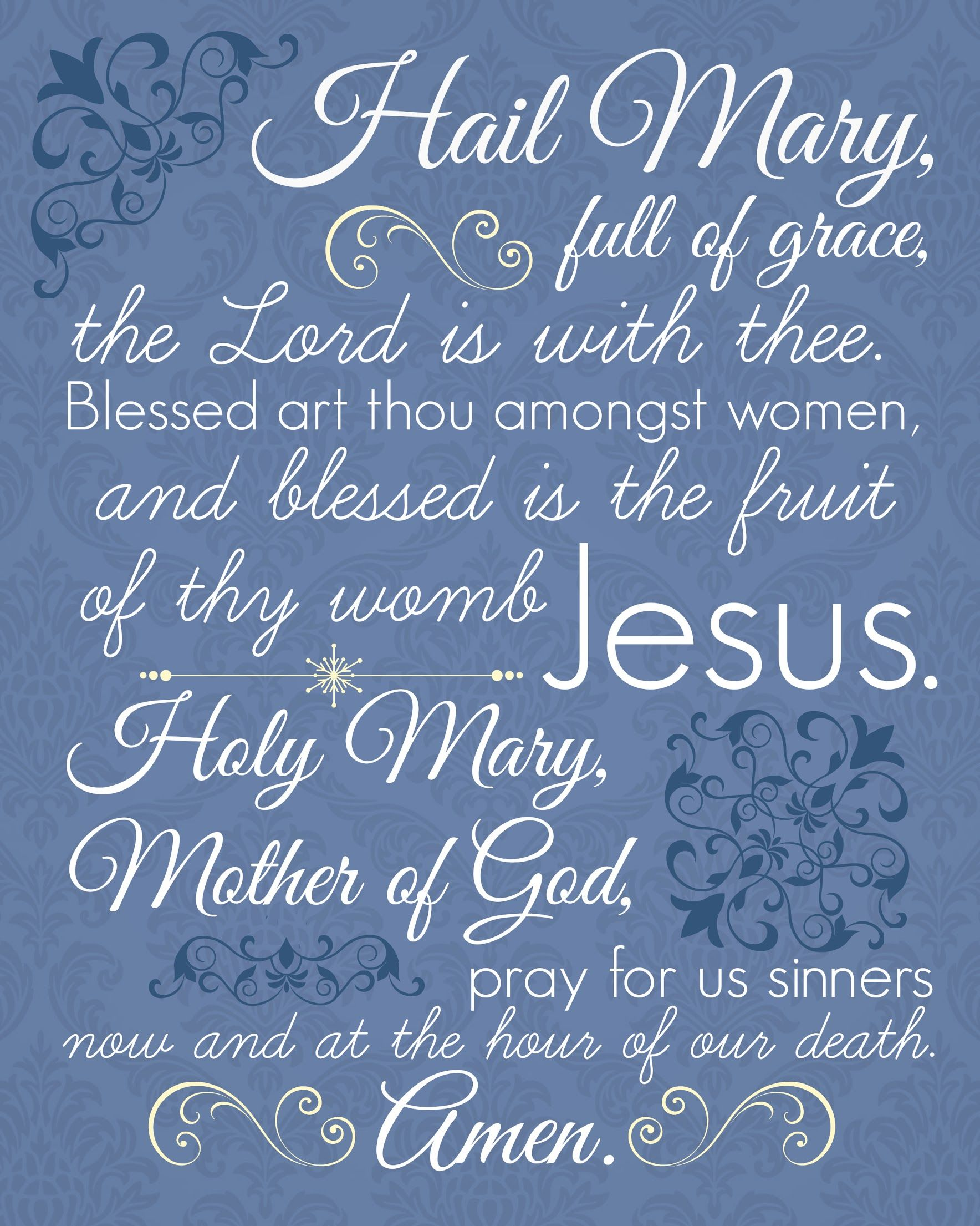 Displaying Hail Mary
