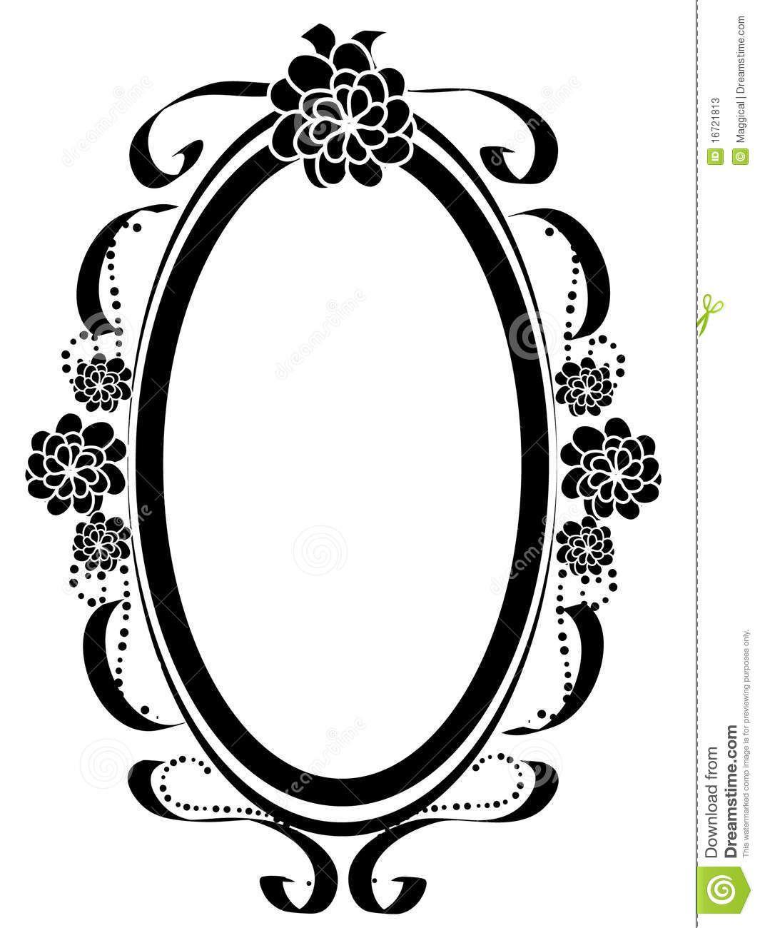 vintage oval frames vector Pesquisa Google Artesanato