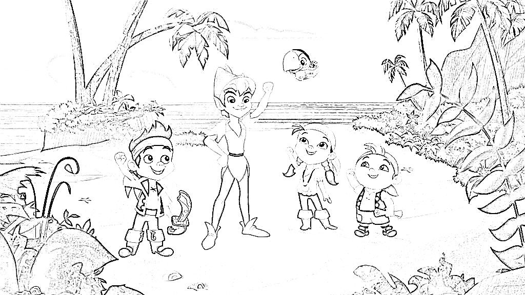 jake and the never land pirates coloring page cousin 39 s party