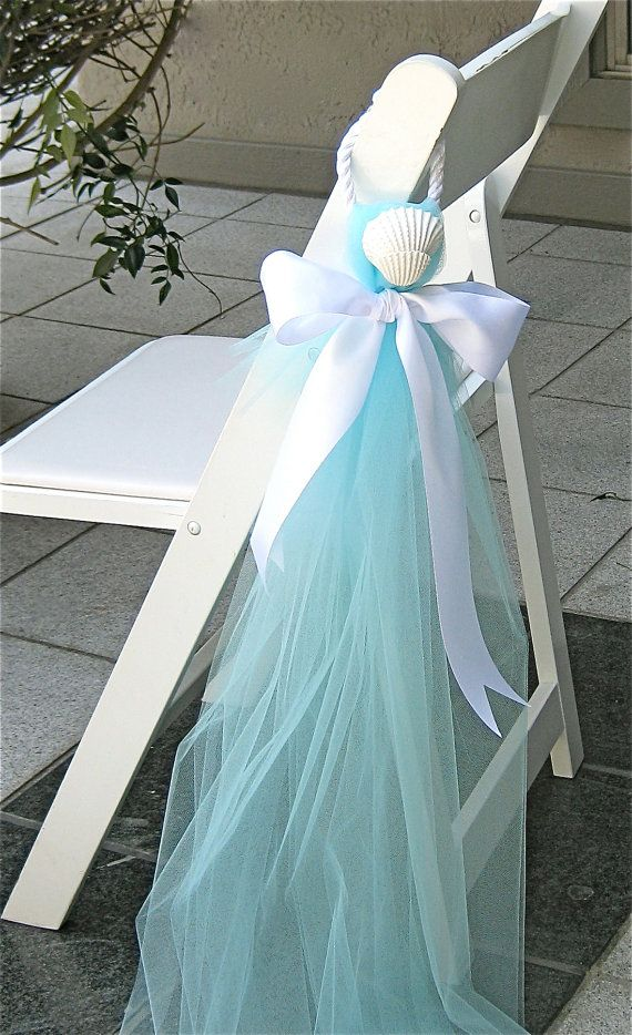 Beach Wedding Decor Chair Decorations by