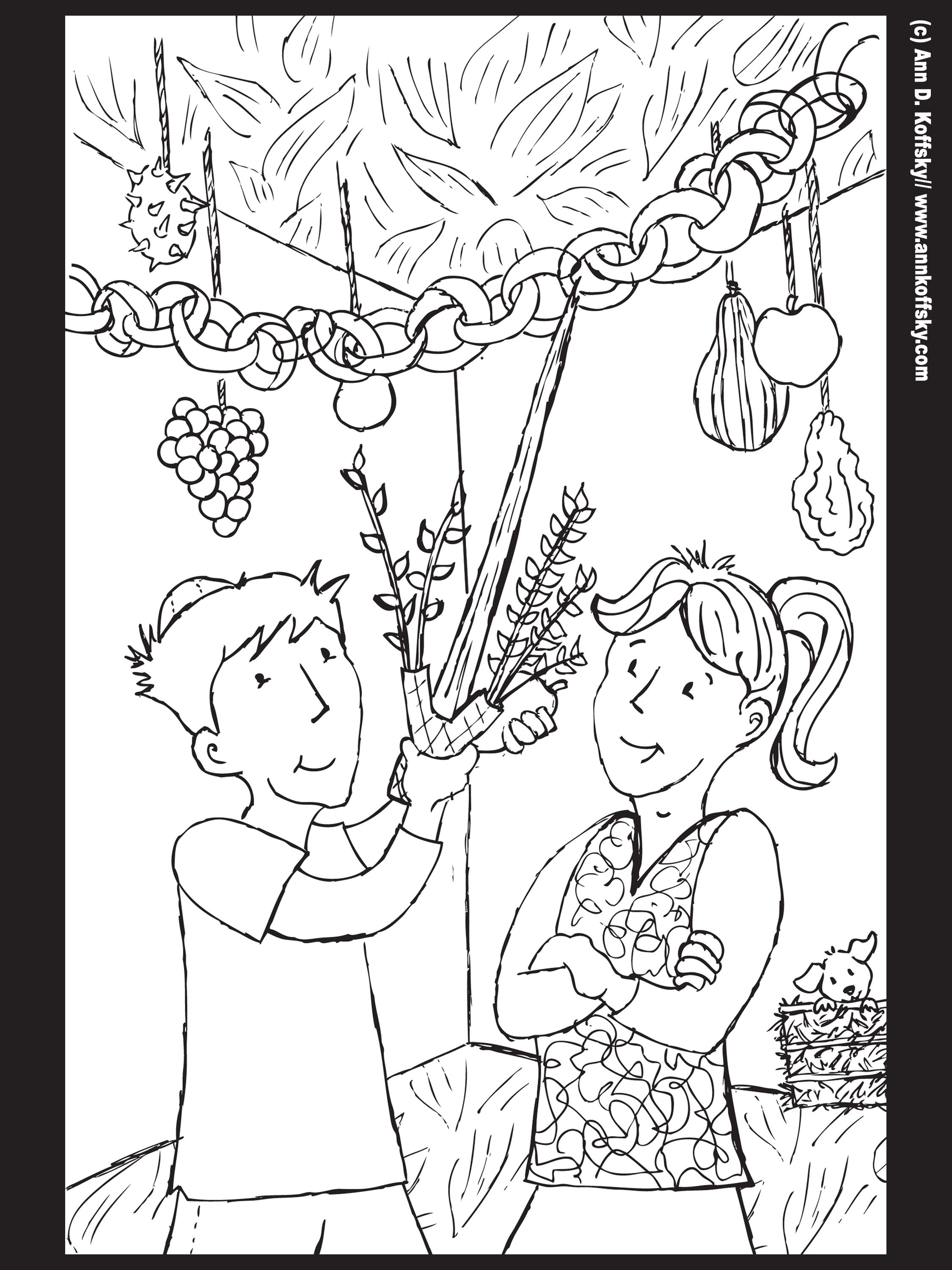 Jewish Coloring Pages For S
