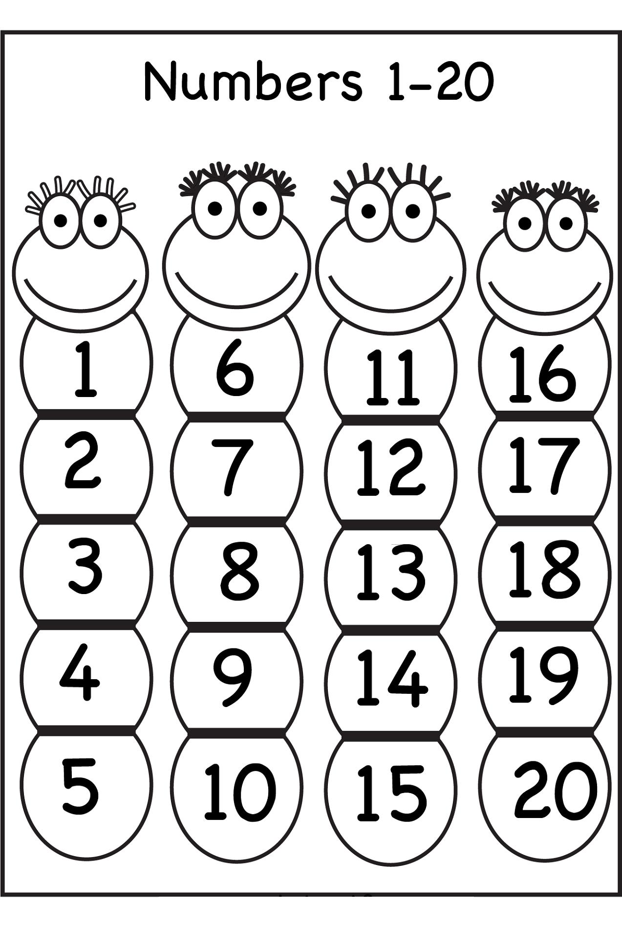 Worksheet Numbers 1 20 Worksheets Grass Fedjp Worksheet