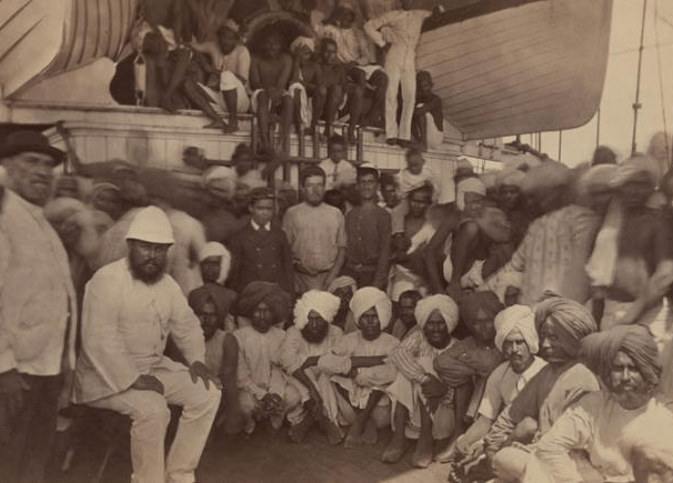 Indentured labourers on a ship Indian Indentured