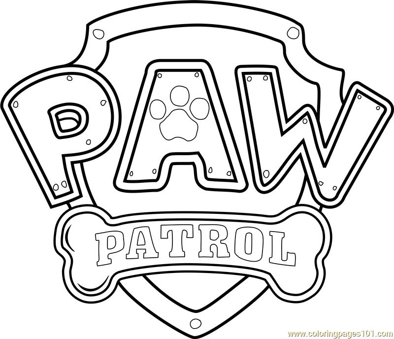PAW Patrol Badge Template PDF Paw Patrol Logo Coloring