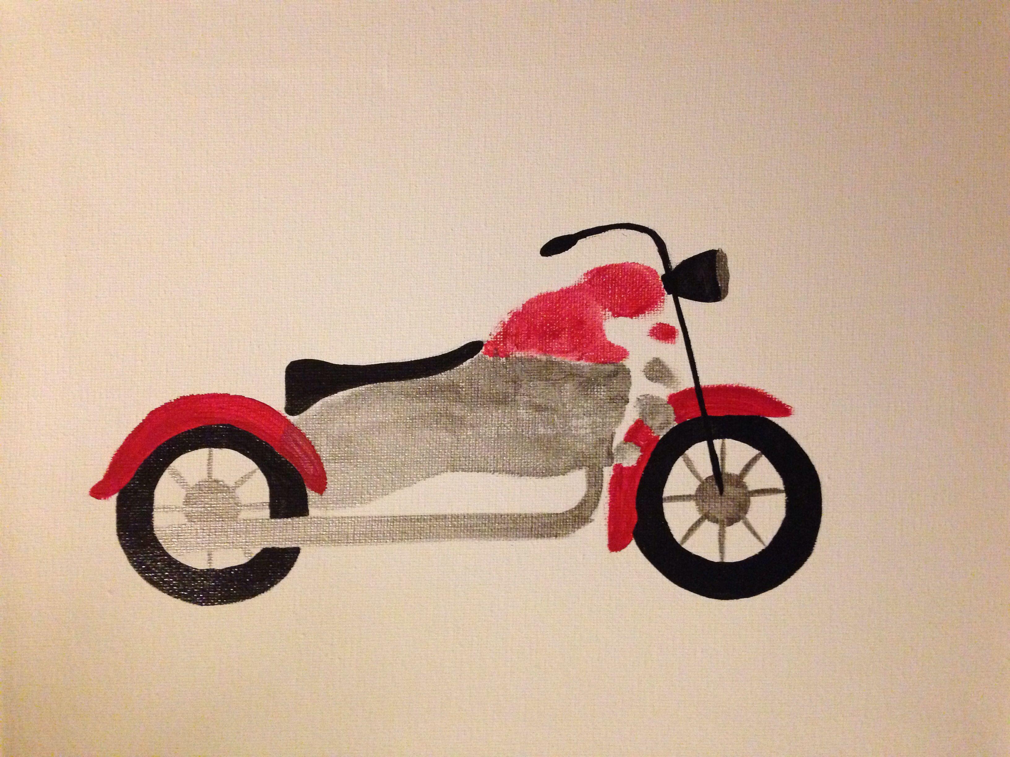 Motorcycle Footprint Art