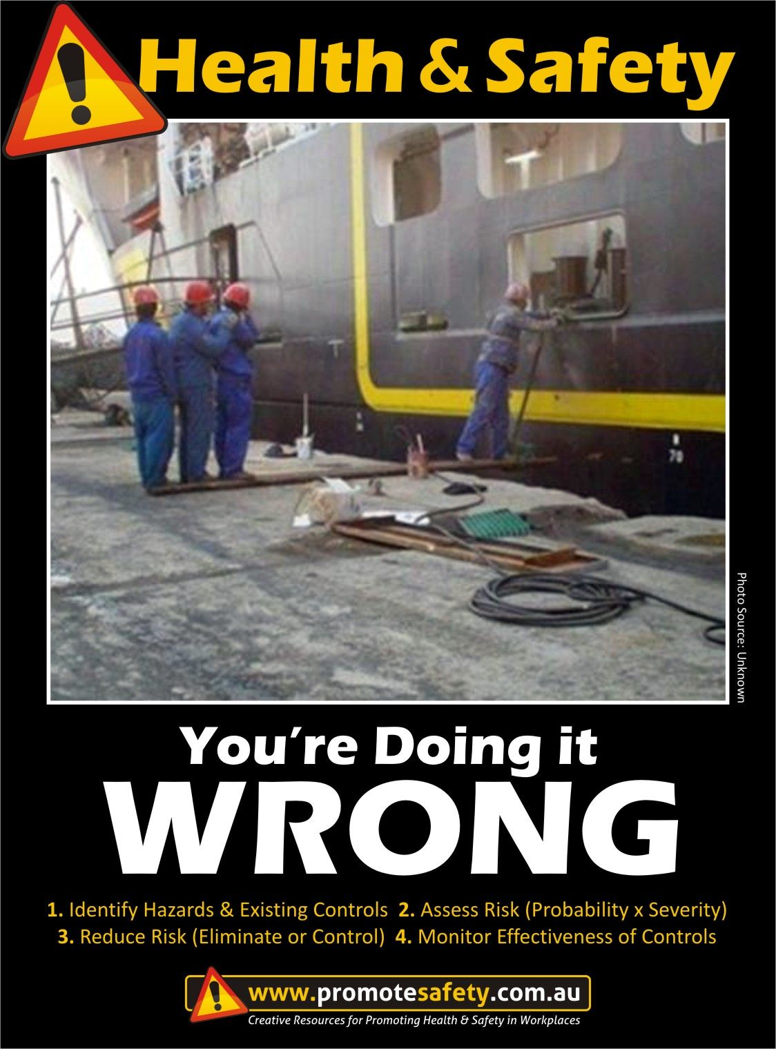 Health & Safety You're Doing it Wrong. Fall Hazard. Dock