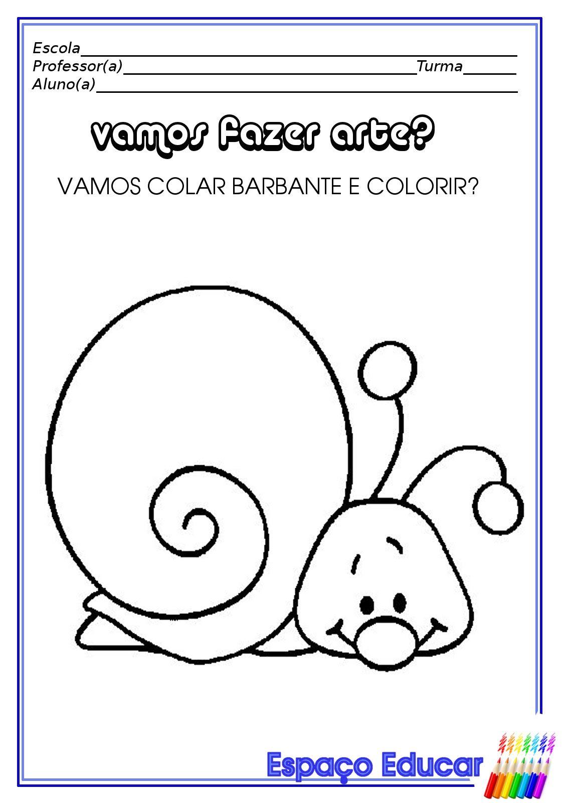 Atividade Educacao Infantil Animais Caracol Recorte Colagem2