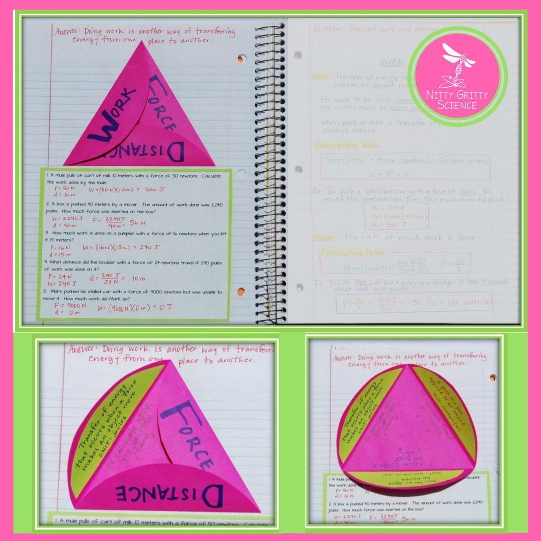 Energy Work Amp Simple Machines Physical Science Interactive Notebook Nature Of Energy