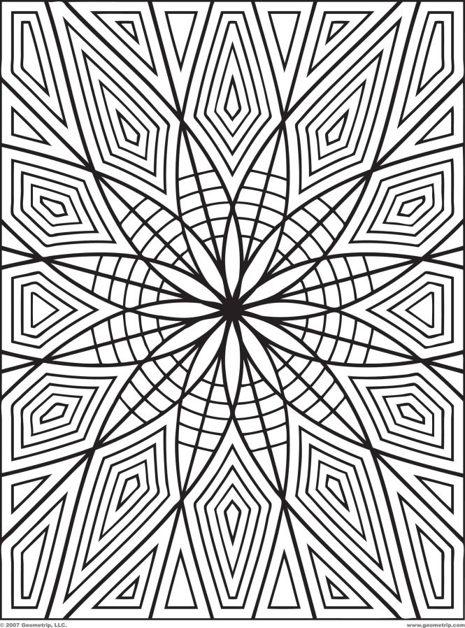 Geometric Design Coloring Pages Pdf Pic 1 Hawaiidermatology Com 470 Kb 2222