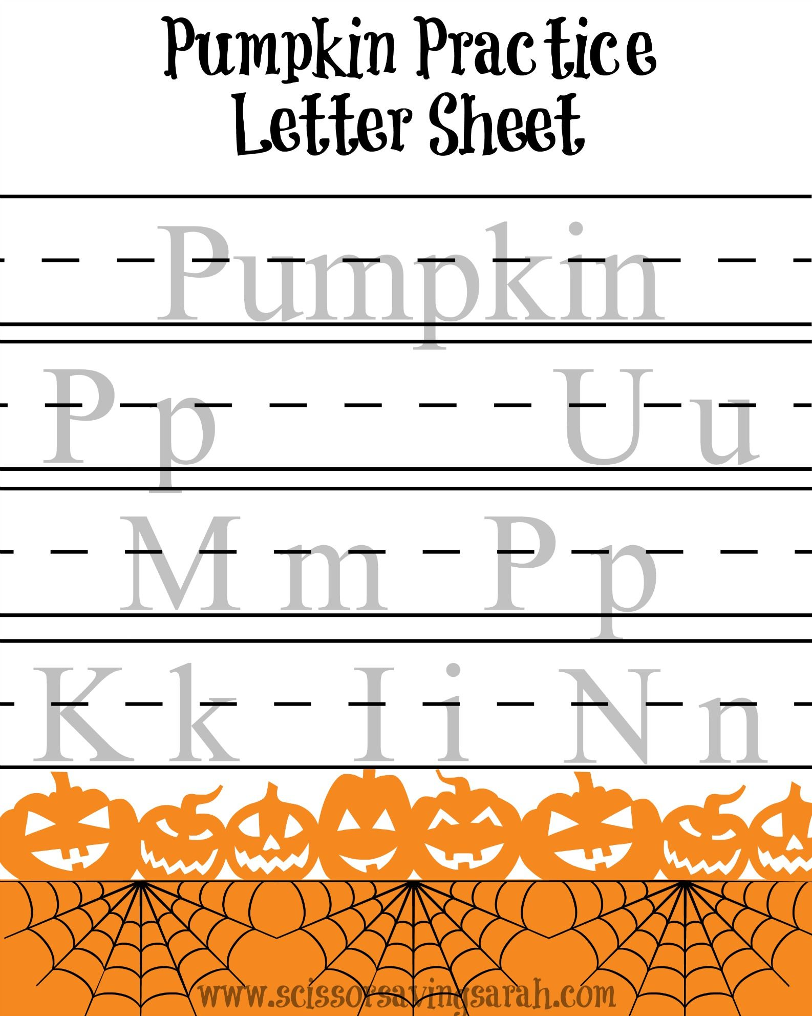Little Ghouls And Goblins Can Practice Writing The Word
