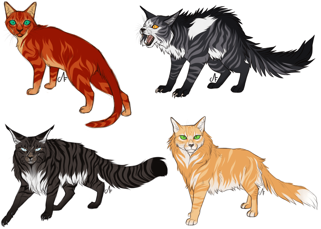 Firestar Thistleclaw Hawkfrost Lionheart Reguested by