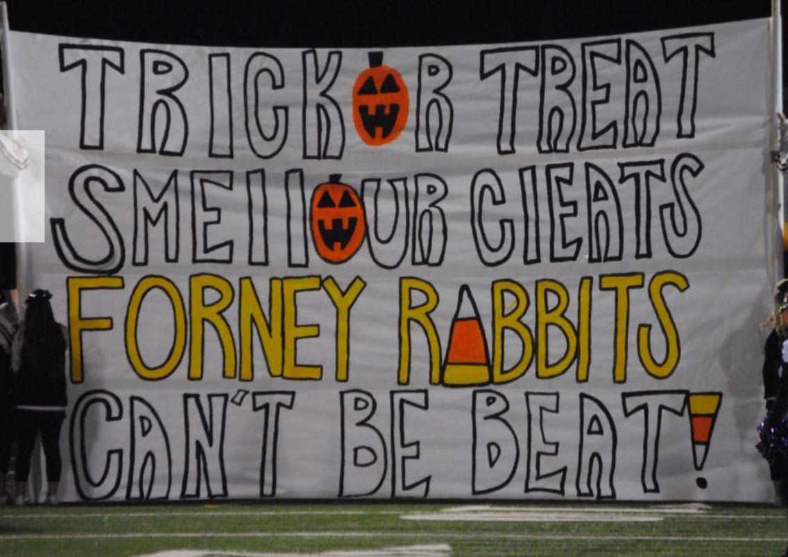 Halloween cheer run thru sign ) Cheer Ideas Pinterest