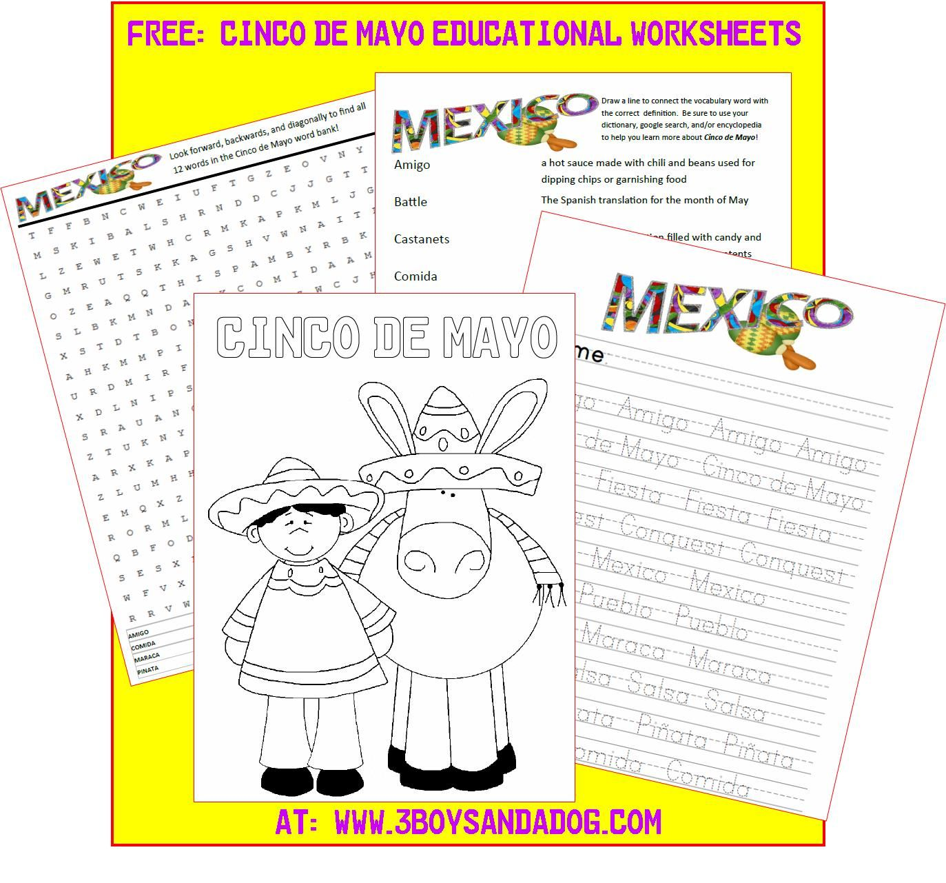 Free Printable Cinco De Mayo Activities For Kids