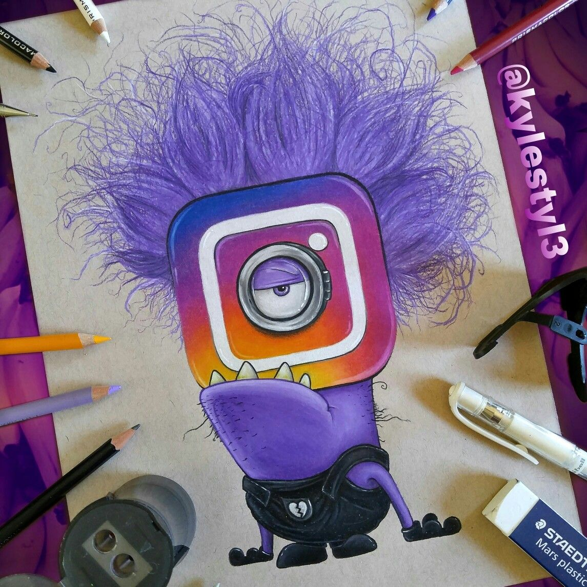 New Instagram Logo and Evil Minion Social Media Mash Up