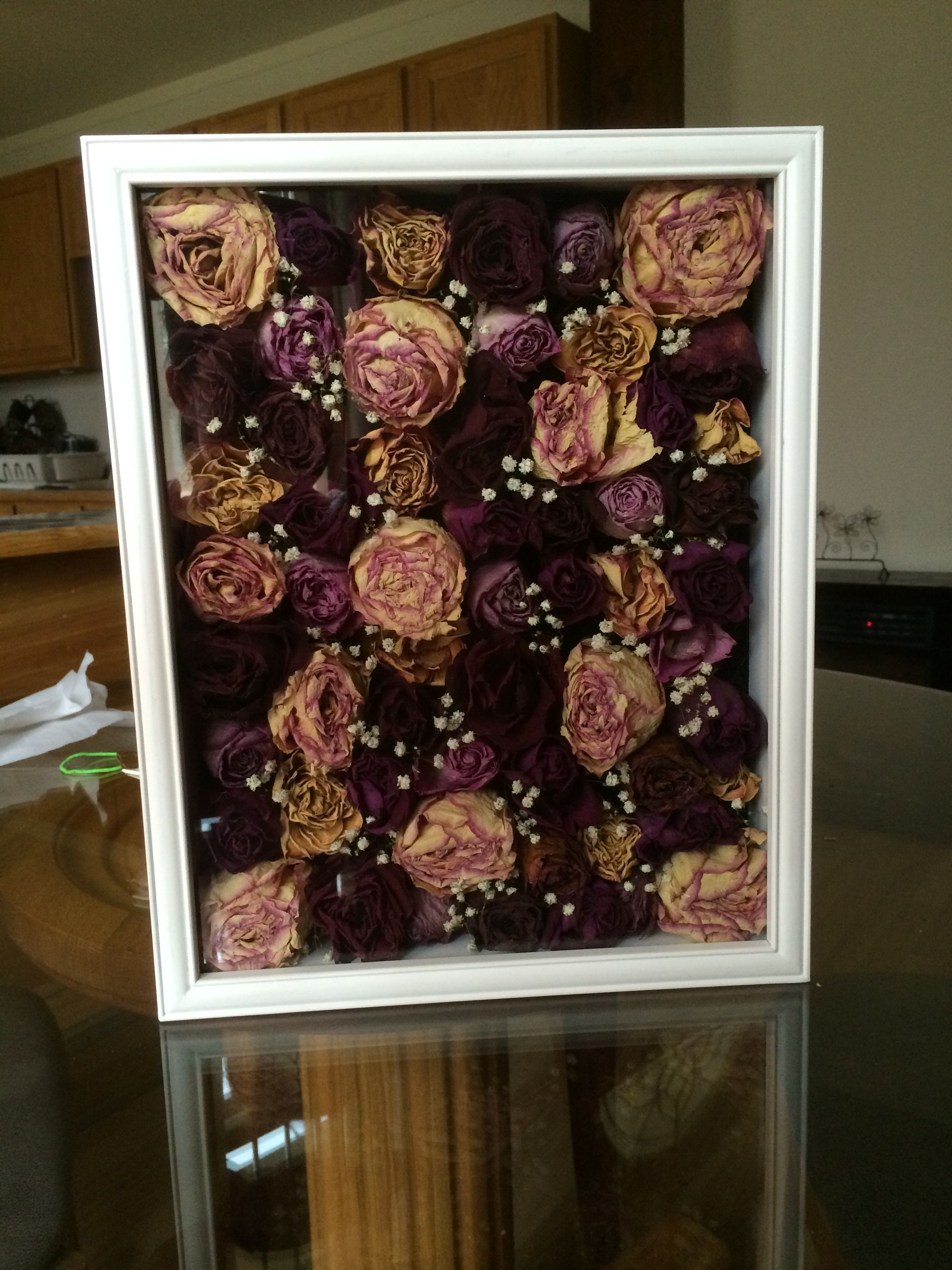 Dried out flowers in a shadow box! Dried Flowers in