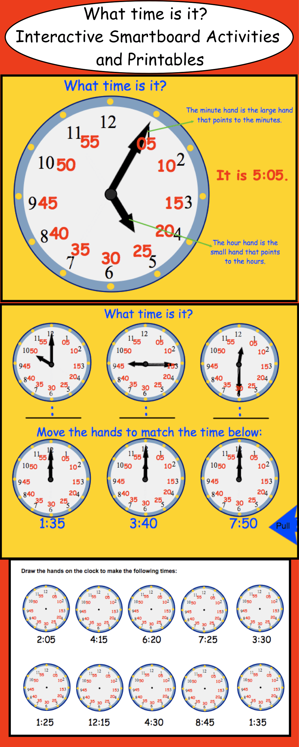 Telling Time Smartboard Interactive File