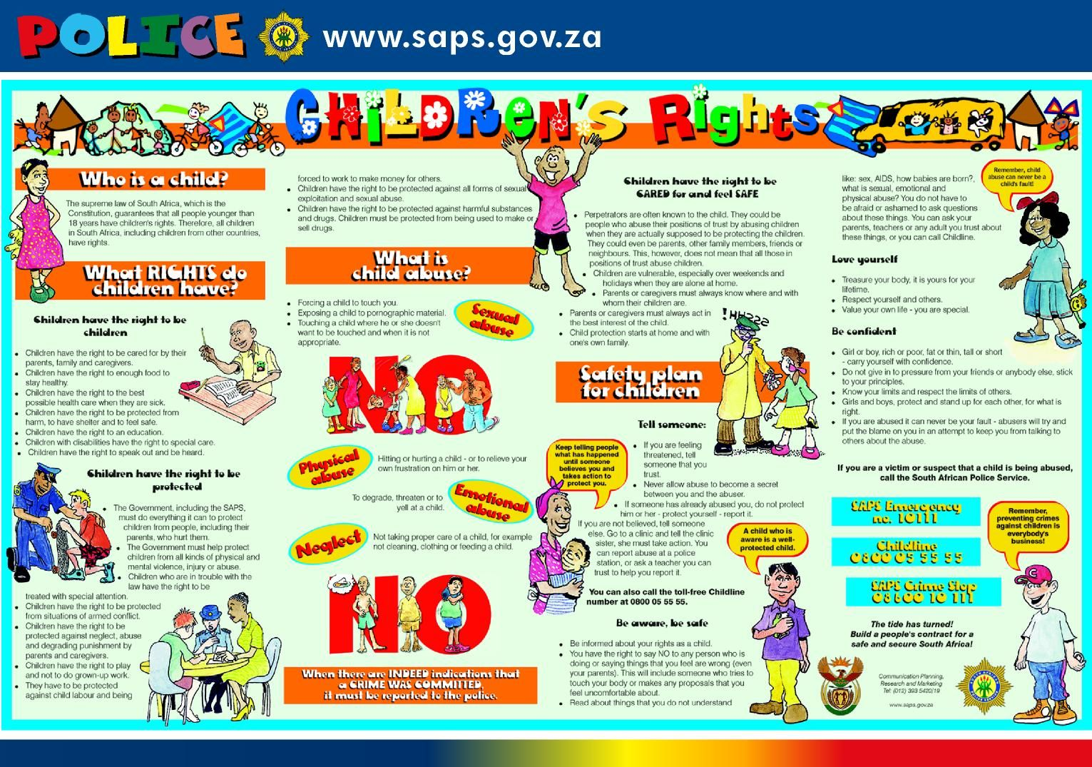 Children's rights pamphlet from South Africa Child