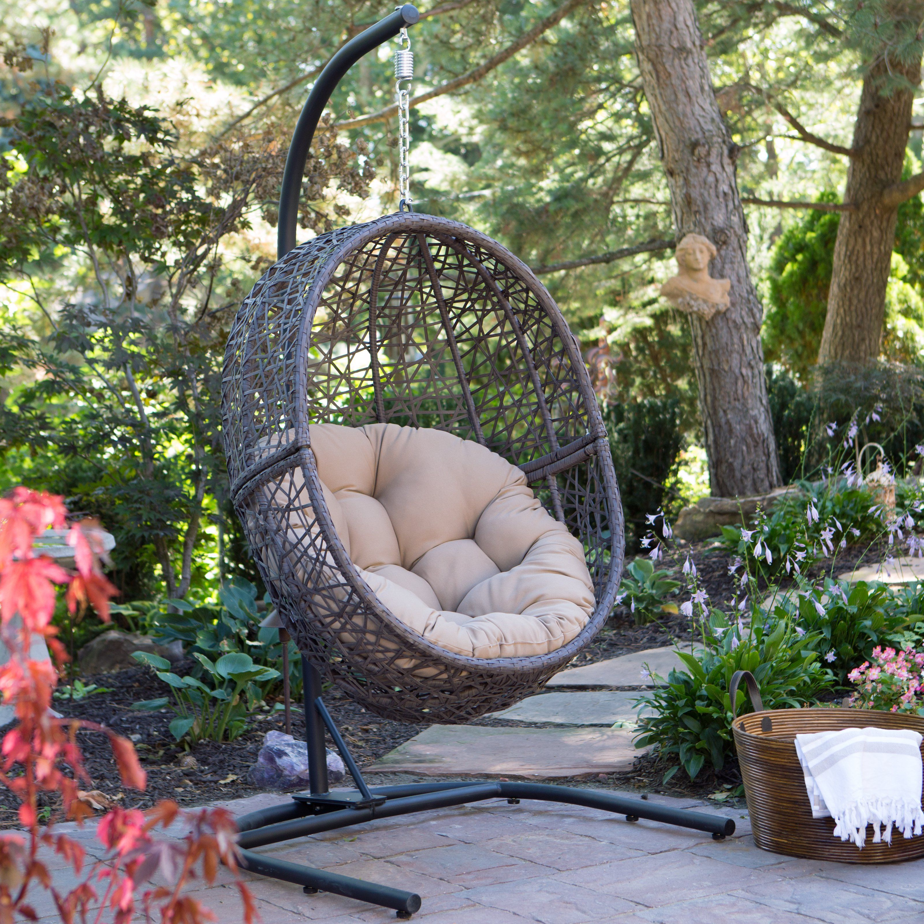 Have to have it. Island Bay Resin Wicker Hanging Egg Chair