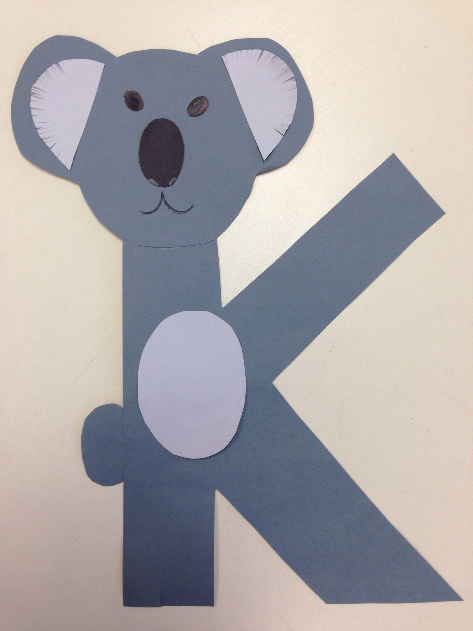 K For Koala Preschool K Crafts Children K Crafts Alphabet