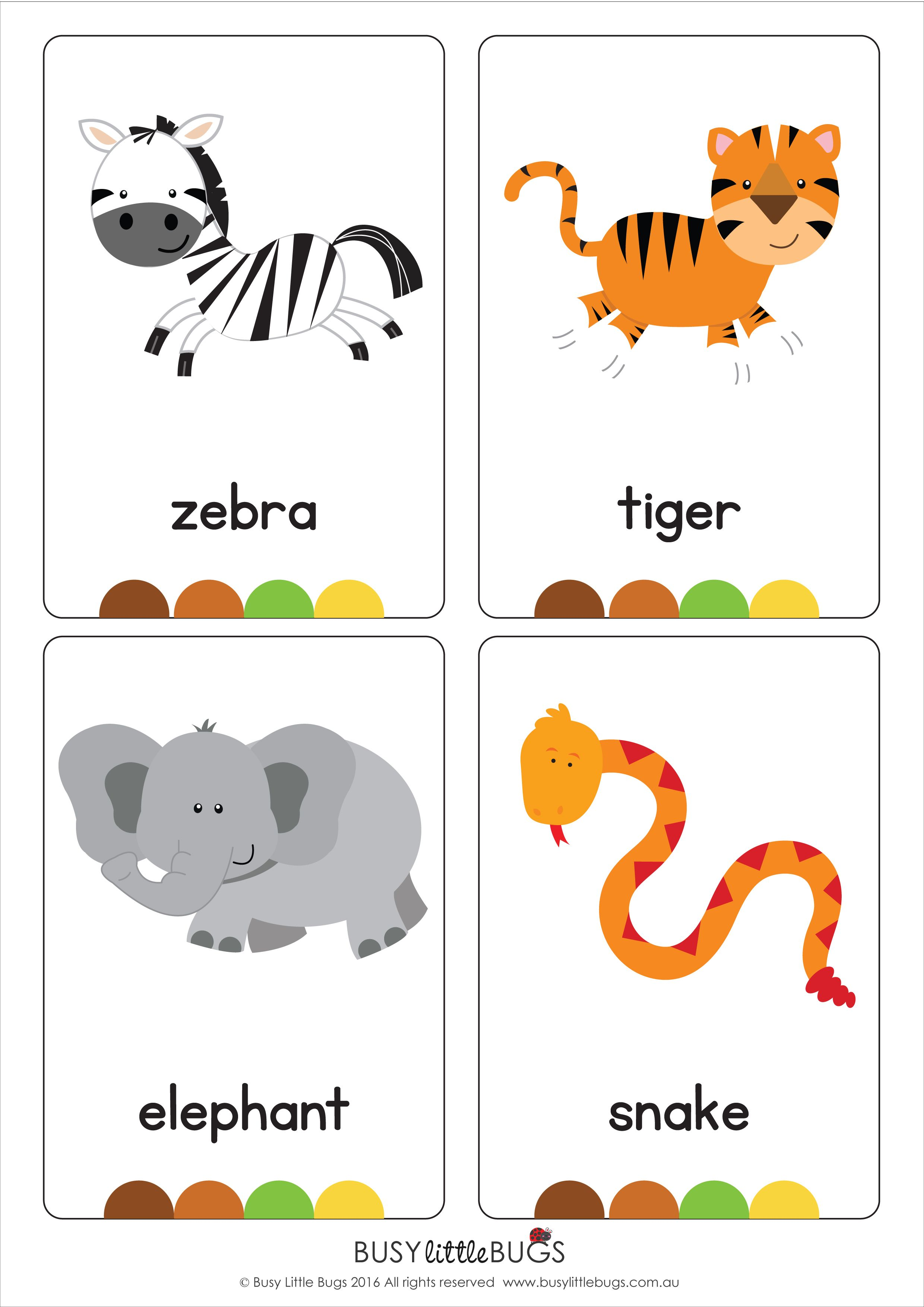 "Our set of printable ""Jungle Animal Flash Cards"" are a"