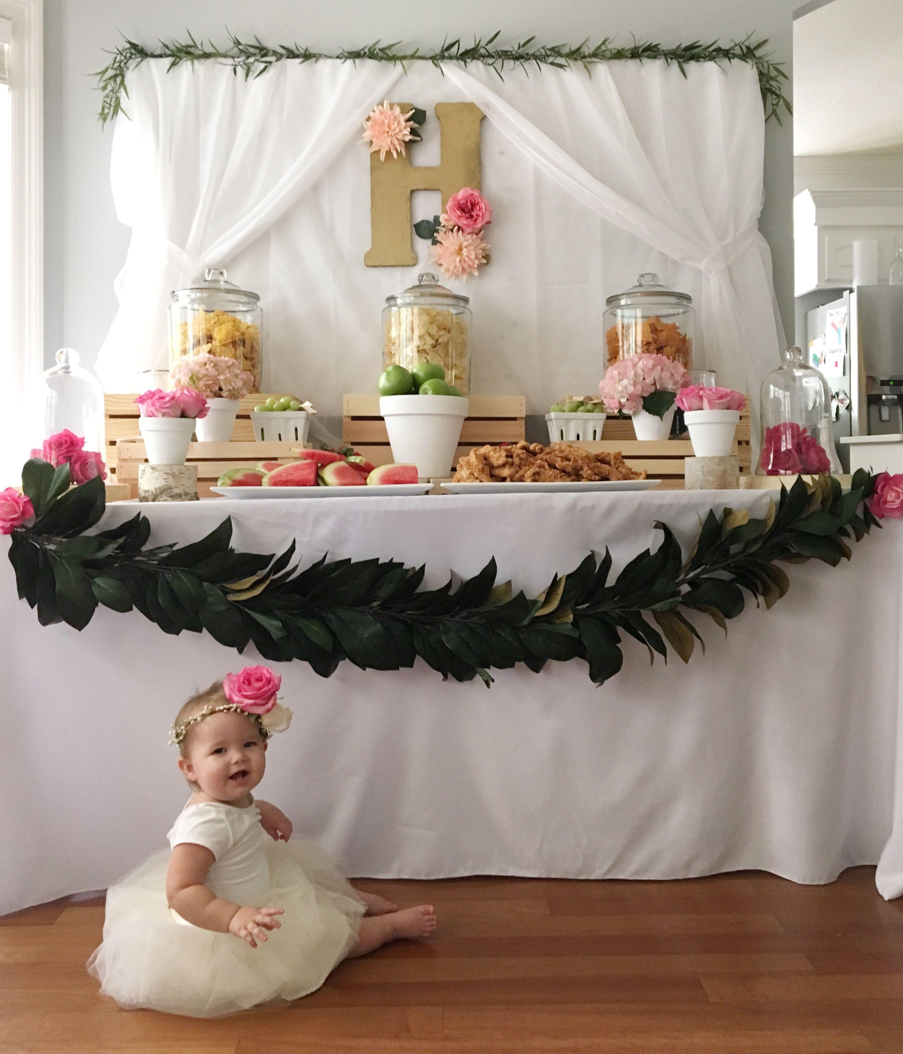 Harper's Floral First Birthday Birthdays, Floral and Flower