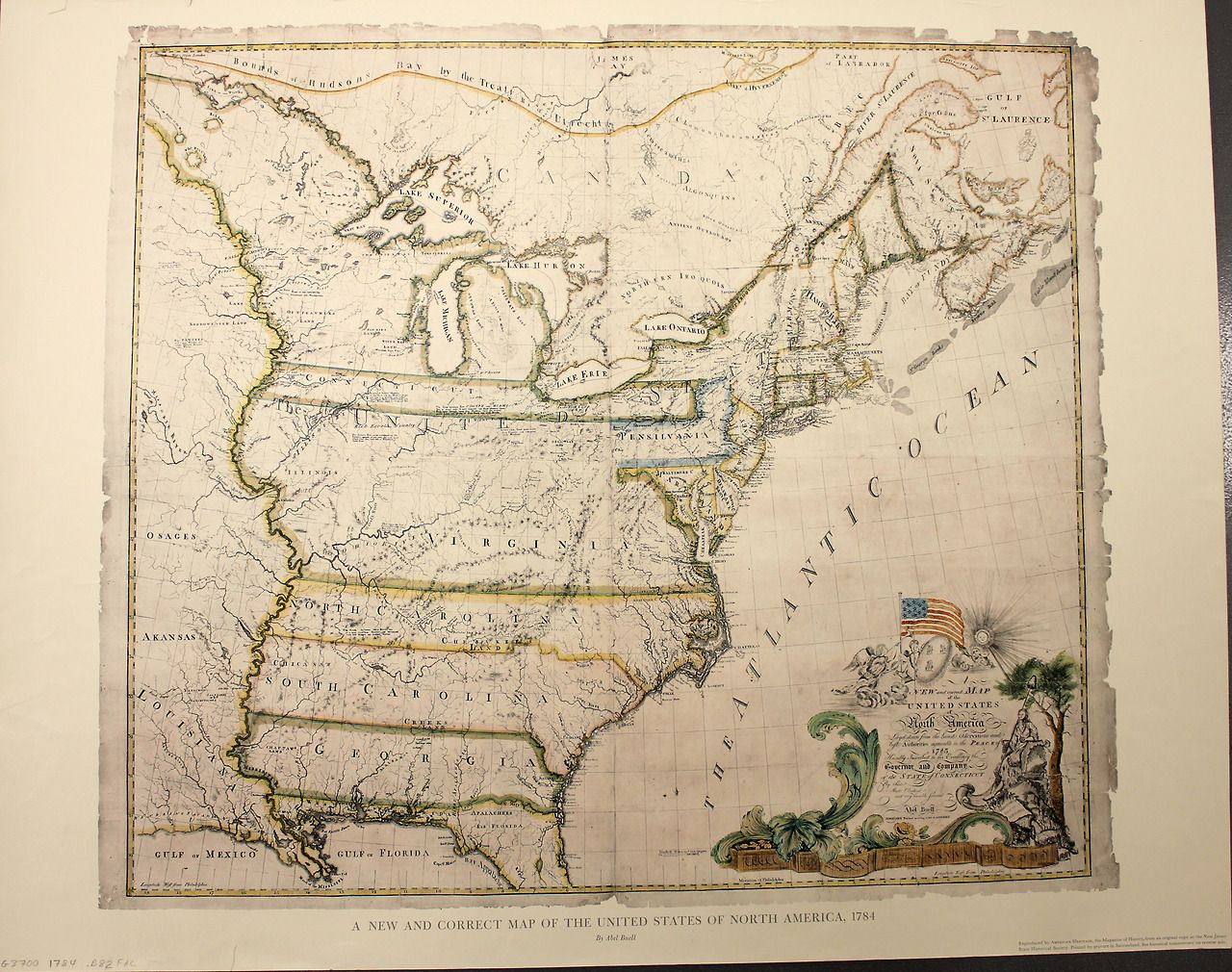 Q4 Revolutionary War January 14  1784  Ratification Day  The         Correct Map of the United States of North America Layd Down from the  Latest Observations and Best Authorities Agreeable to the Peace of 1783   Geography