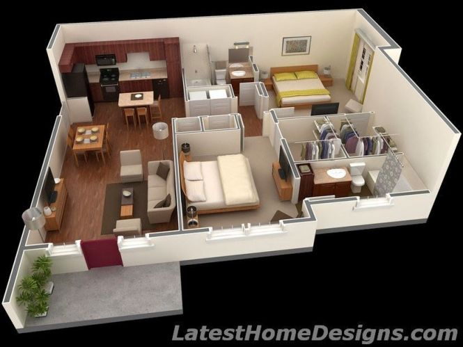 1000 Square Feet 2bhk House Plans Bedroom