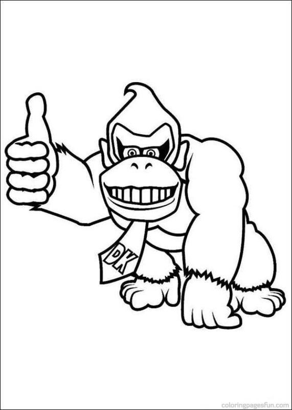 Super Mario Bros Coloring Pages To Print Marioparty8dm Png Super