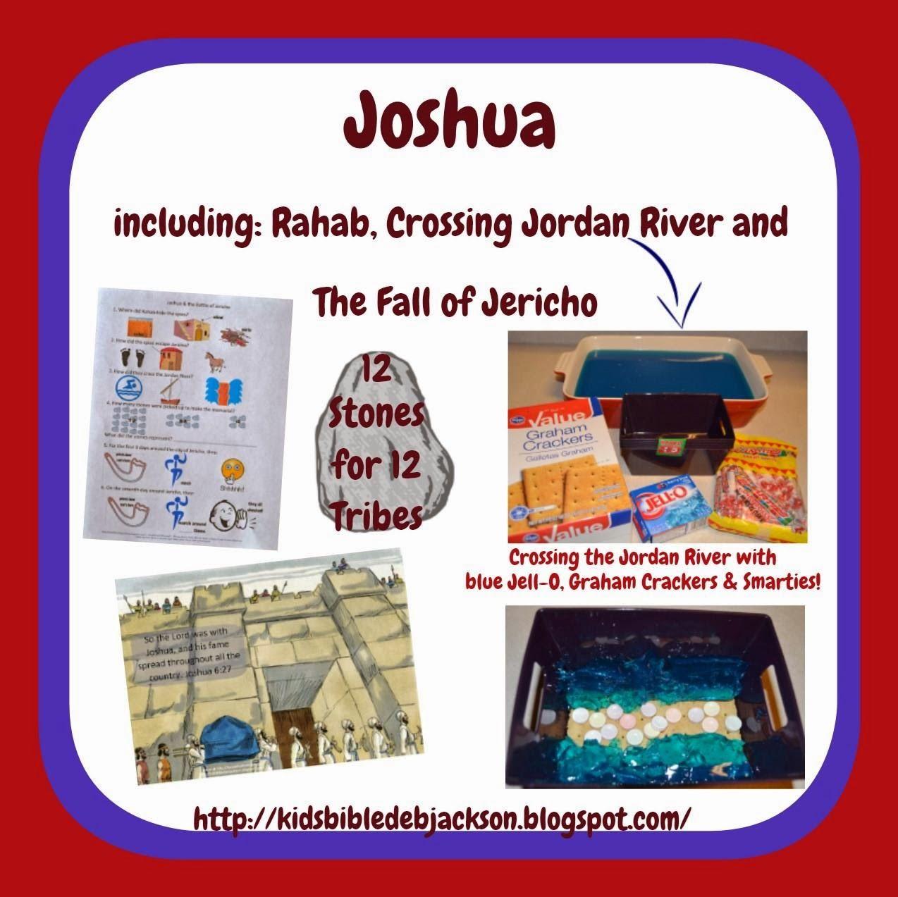 Bible Fun For Kids Joshua Rahab Crossing The Jordan