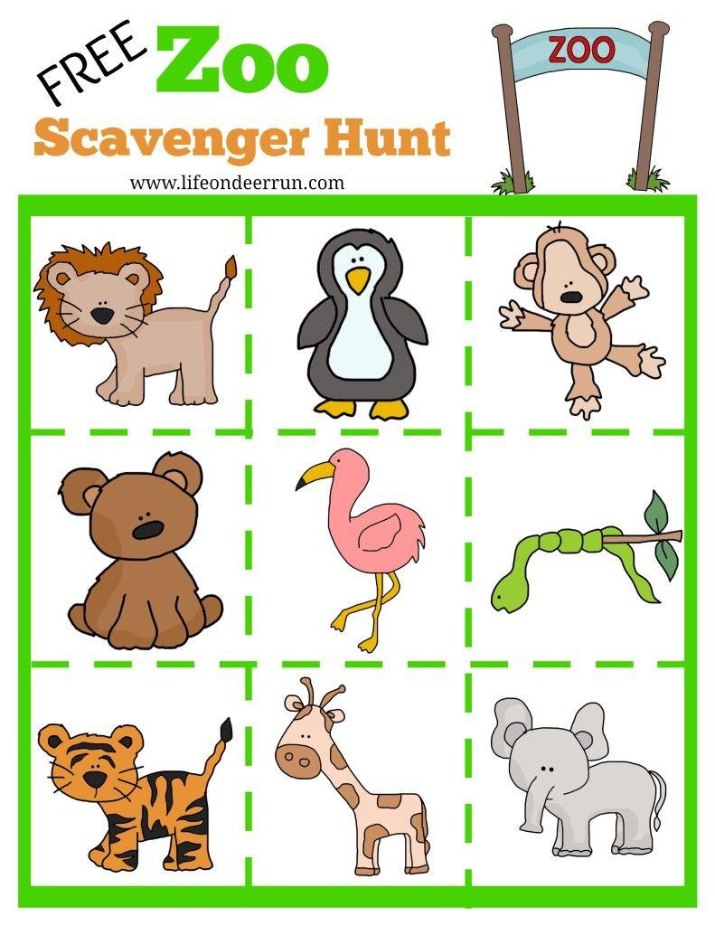 printable zoo scavenger hunt, zoo scavenger hunt