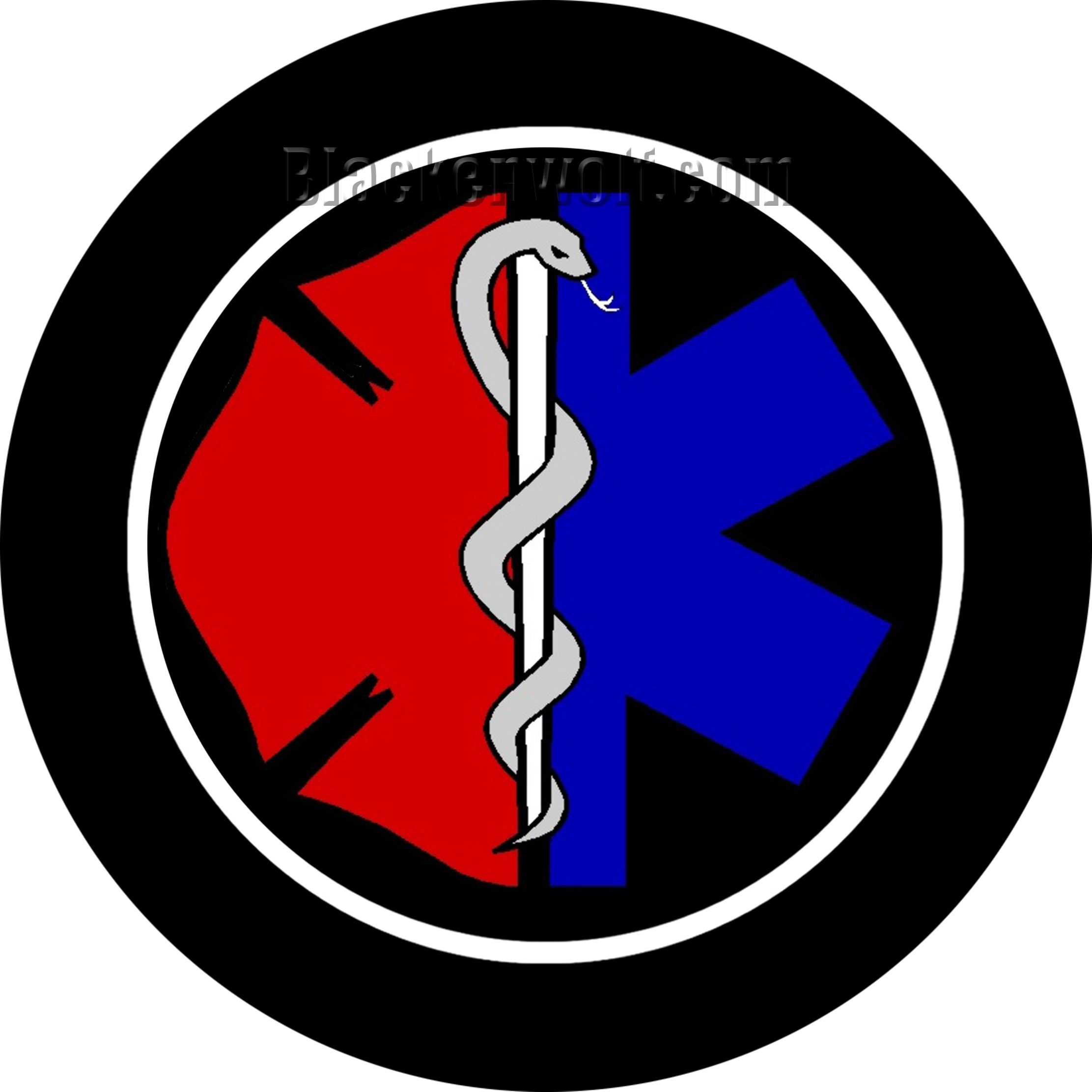 Fire Rescue Logo. Car Door Projection Puddle Lights