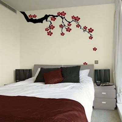 cherry blossom wall art decal (top 10 creative bedroom wall art