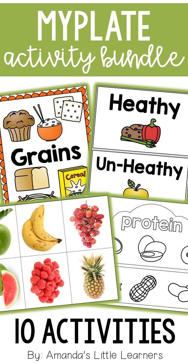 MyPlate Activity Bundle Food Groups Food groups