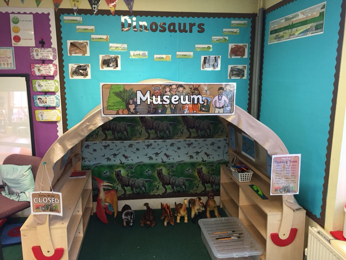 Our Dinosaur Museum Role Play Area Roleplay