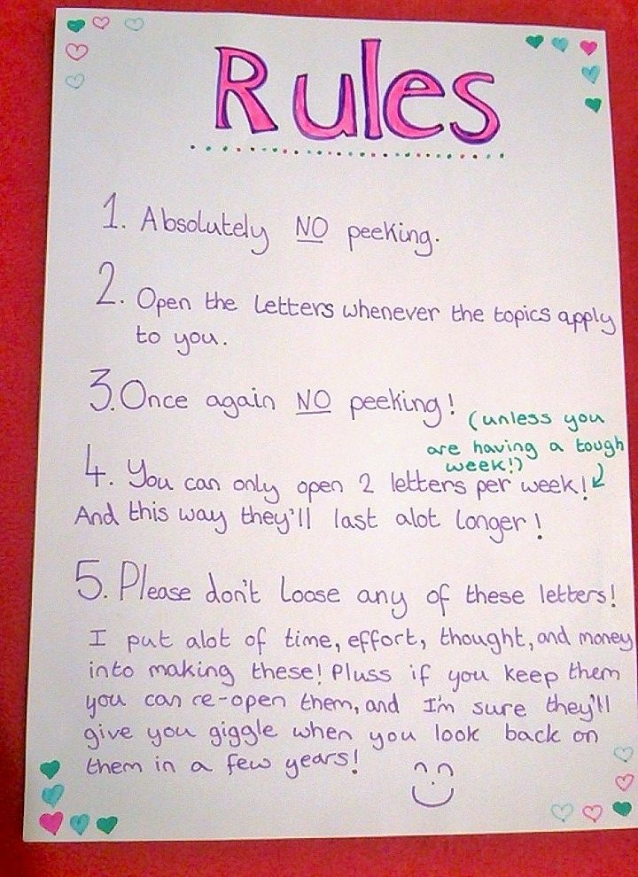Here Are The Rules I Use To Put Inside The Open Now Letter