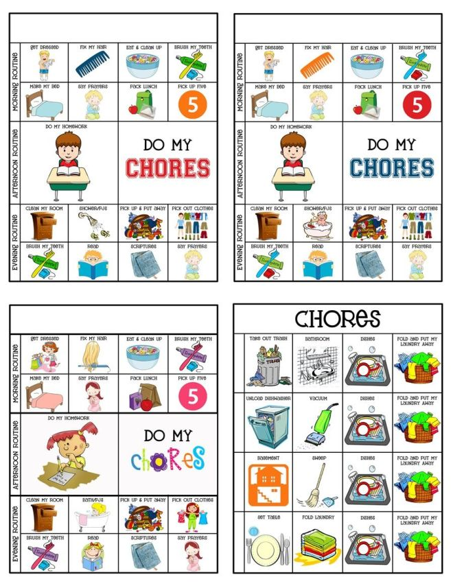 Chore charts chore system chart and parents
