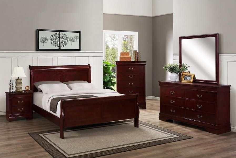 Cherry Wood Bedroom Sets American Made Rustic Cherry Bedroom