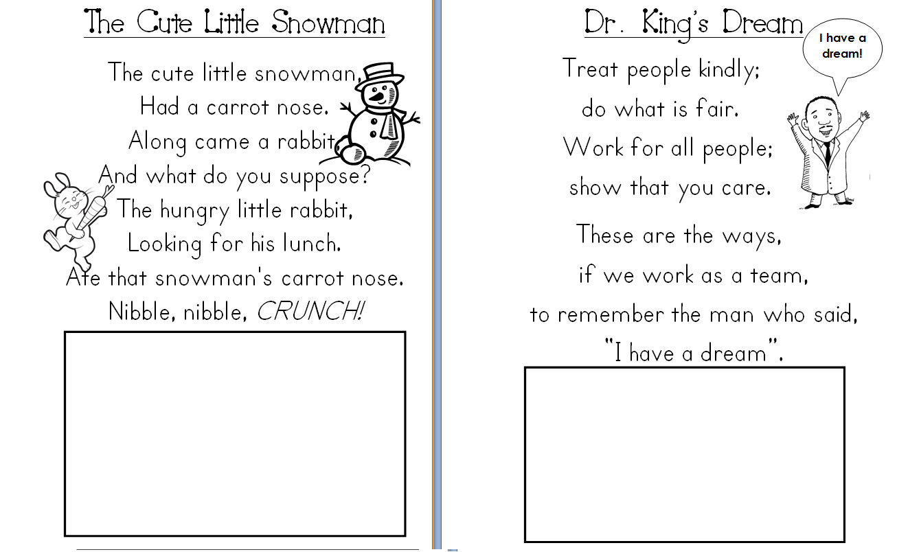 December Poem For Preschool