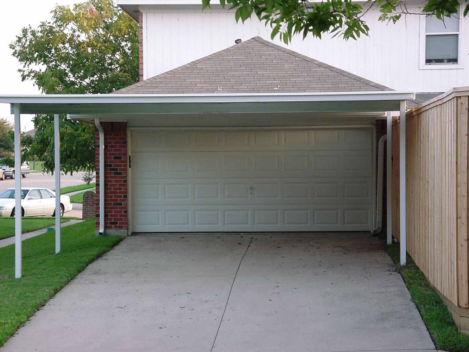 double carport attached to house 20x20