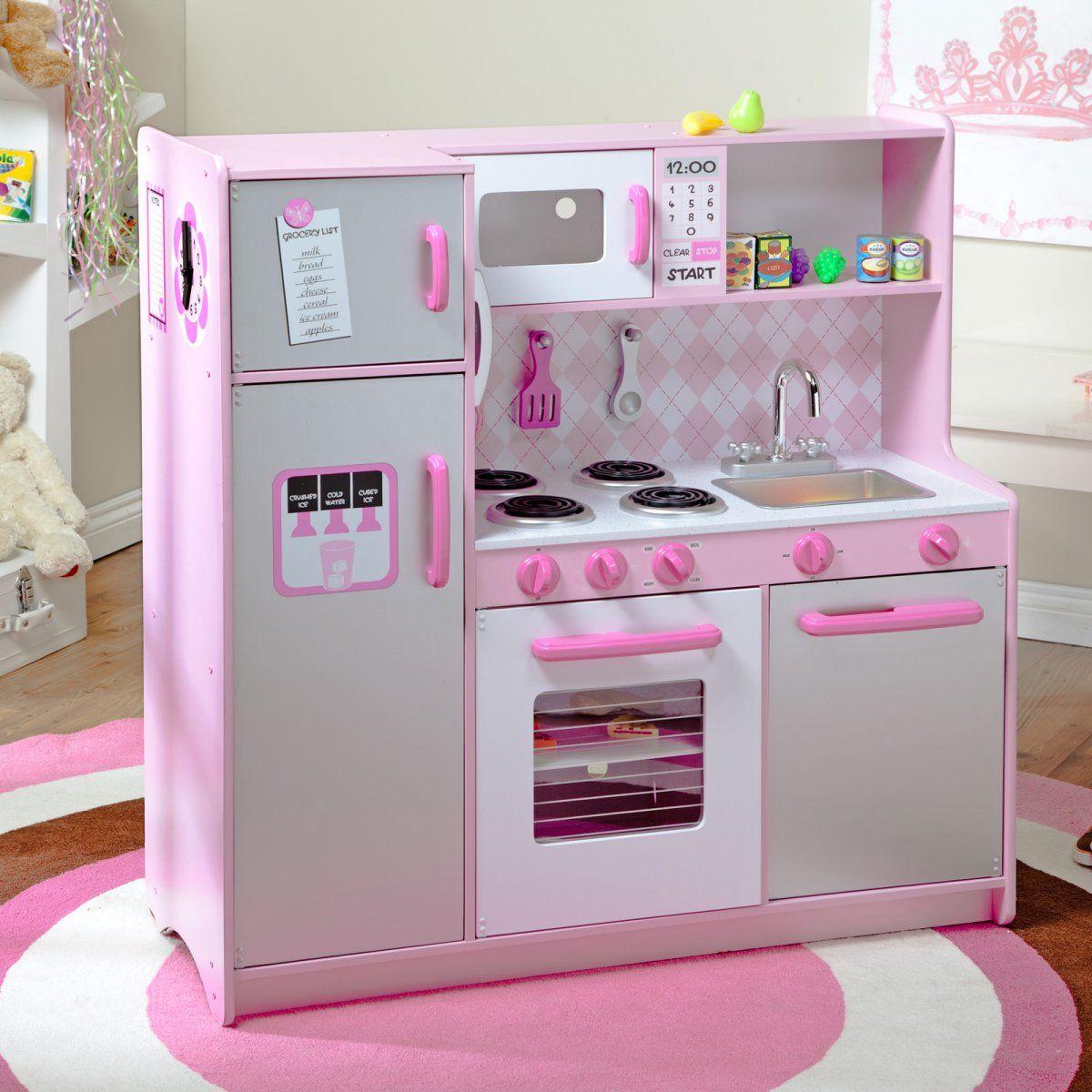 KidKraft Argyle Play Kitchen with 60 pc. Food Set Play