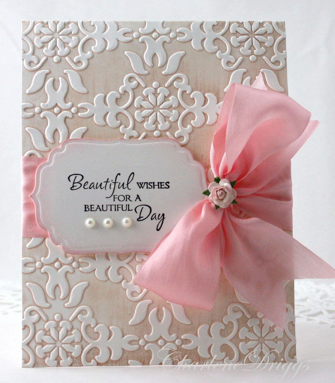 Embossed Handmade Wedding, Mother's Day, Birthday Card. 4