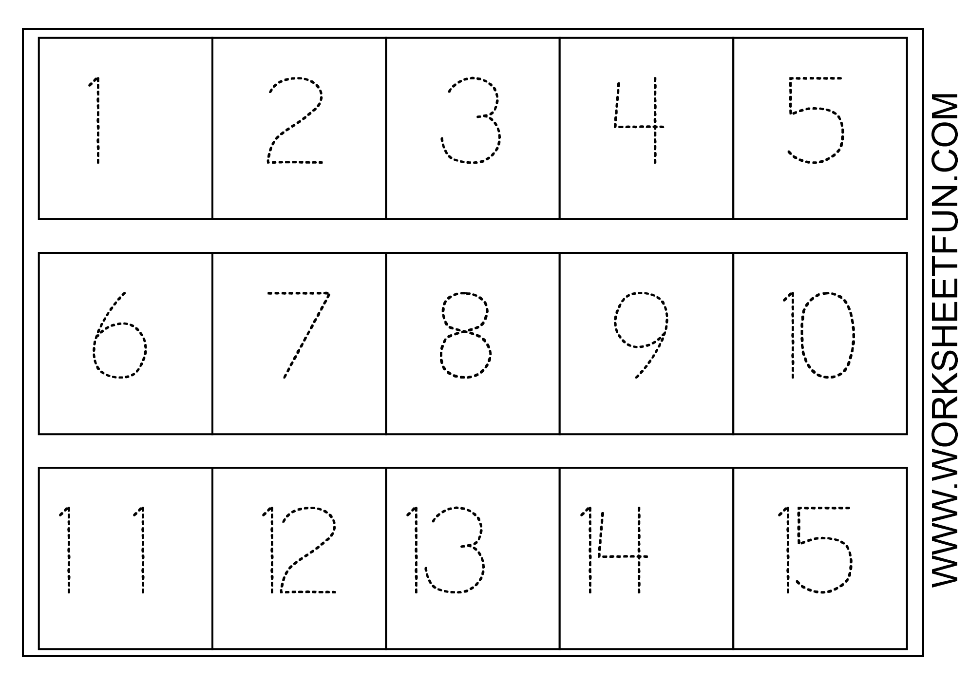 Numbers Worksheets For Preschool
