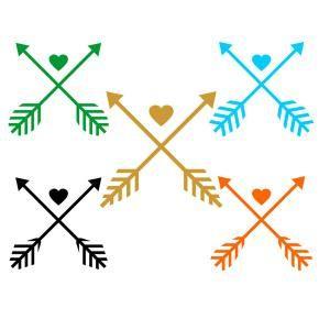 Download Wedding Love Aztec Cross Arrow with Heart Cuttable Design ...