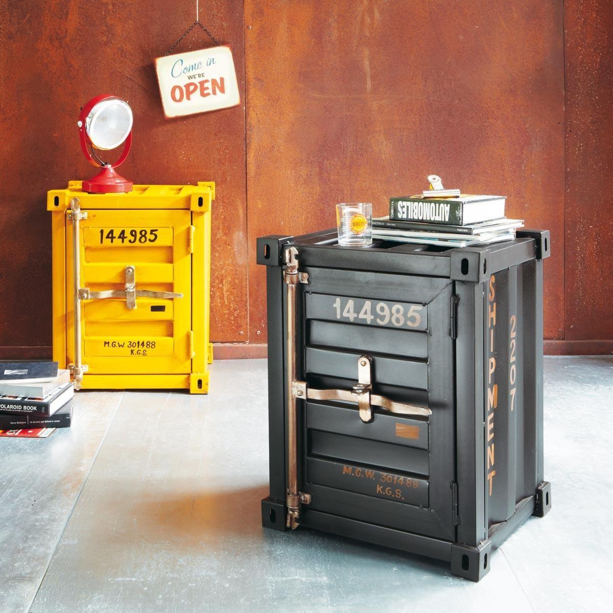 Interesting Bout De Canap Noir Container Carlingue With