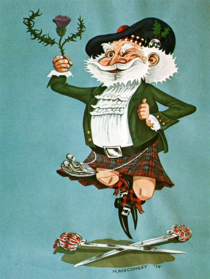 Scottish Christmas Card Vintage Vintage 70s Christmas