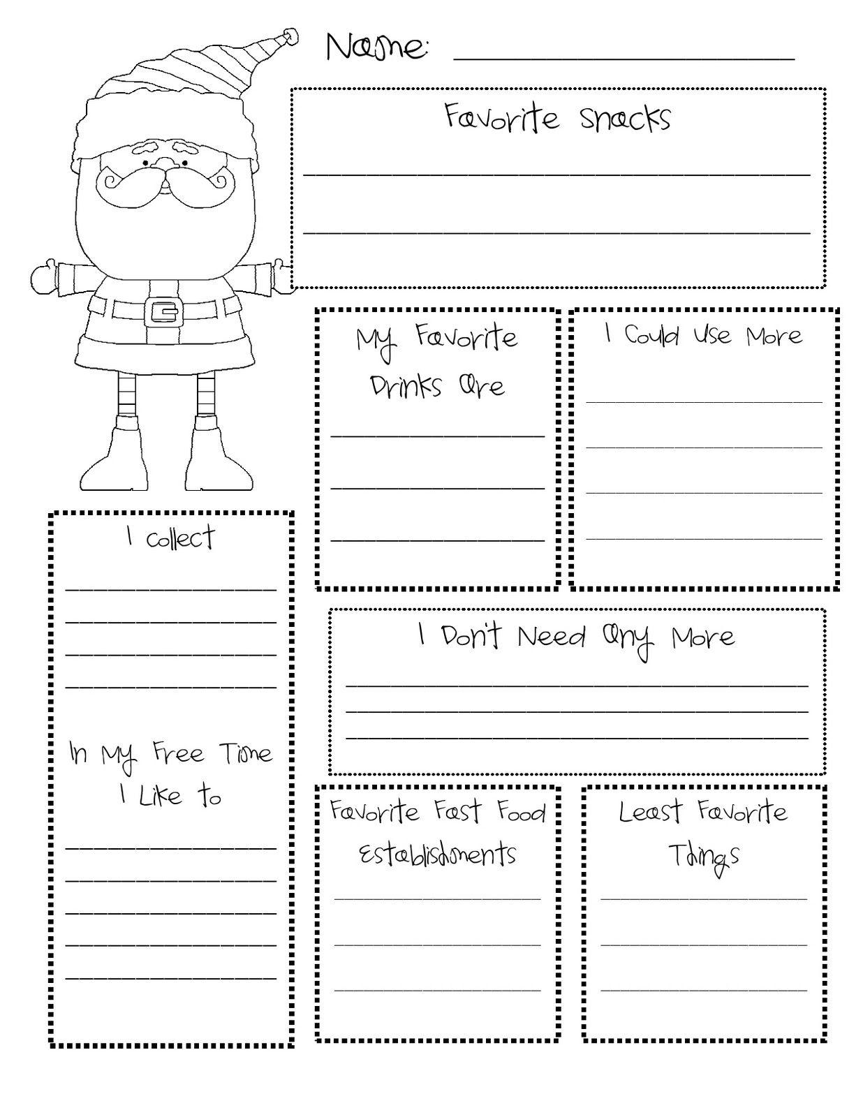Secret Santa Questionnaire