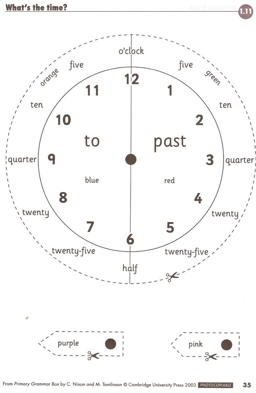 Telling Time 6th Grade