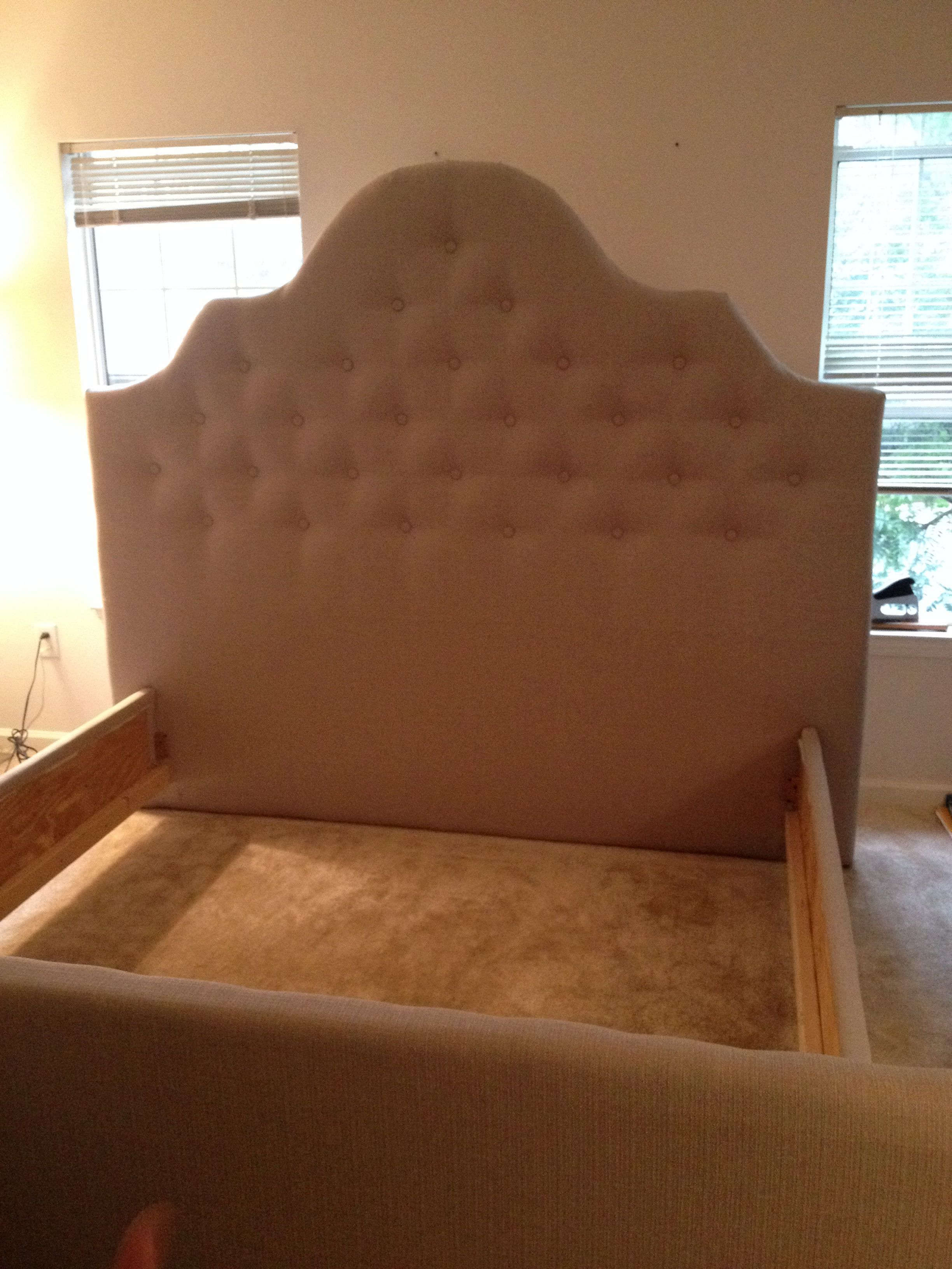 The DIY headboard, footboard and side rails my Hubs and I