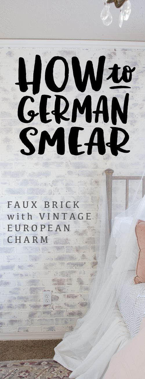 German Smear German Schmear Faux Brick Wall Faux Brick